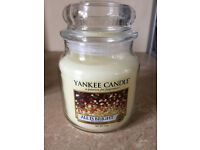 """New & Unused. Medium size Yankee Candle. 411g. Scent is """"All is Bright"""""""