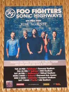 FOO FIGHTERS AUSTRALIAN TOUR 2015 -  LAMINATED POSTER - Perfect To Frame