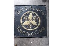 Cyclists Touring Club Sign