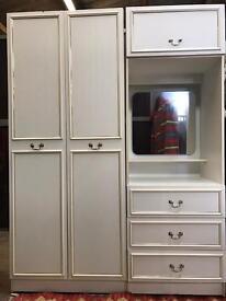 White Formica wardrobe