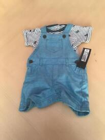Dungarees and vest (M&S) 3-6 months