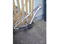 "Cannondale 16"" lightweight sl5 trail frame/etc"