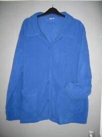 As new - ladies Damart royal blue fleece good condition size 26/28