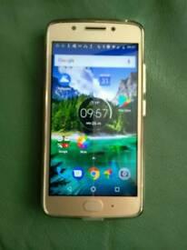 Motorola G5 Gold. As new. 6 months old. Unlocked.