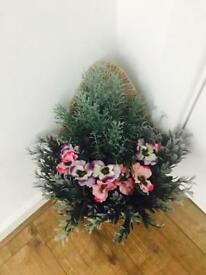 Artificial Flowers Hanging/Wall Basket