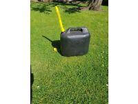Black 20 litre plastic fuel cans for sale