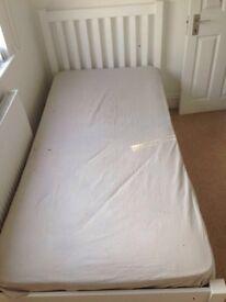 John Lewis Wilton Child Compliant Bed Frame, Single, White