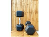 NEW DUMBBELLS HEX 17.5KG ( PAIR ) OTHER SIZES AVAILABLE