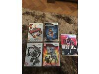 nintendo wii games bundle x5 Red Steel, Guitar Hero, Karate, Mad world, Alien Syndrome