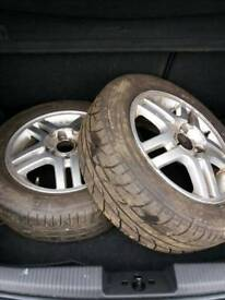 "15""alloys with tyres."