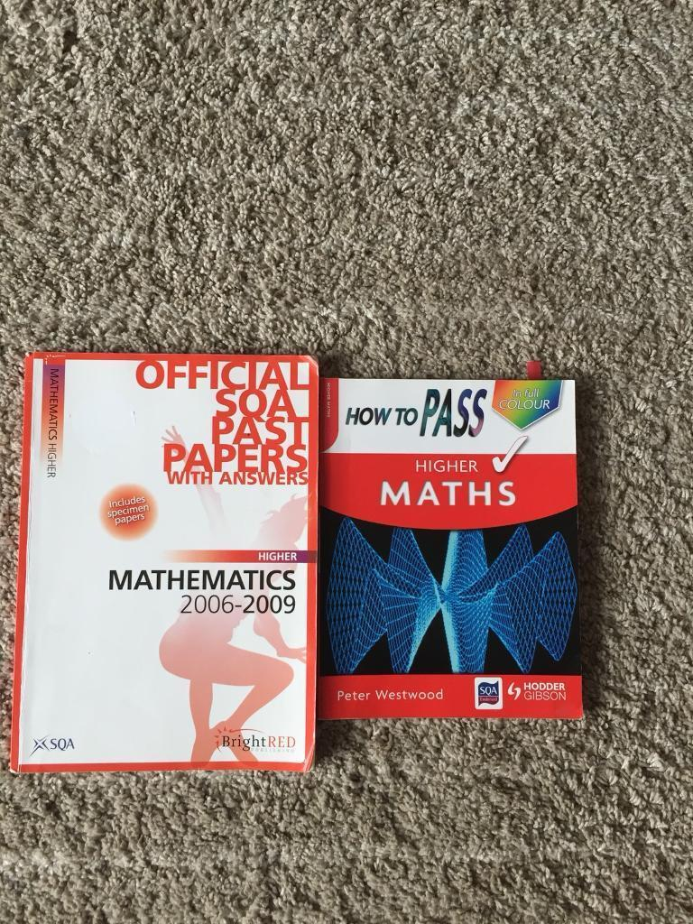 Higher Maths past papers and study guide