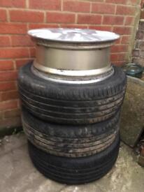 Tyres on alloys