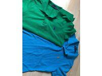 X2 Ladies Original Ralph Lauren Polo Shirts Size Medium As New Condition
