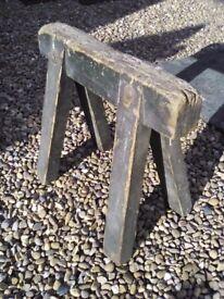 Vintage old wood saw horse
