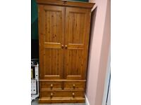Wardrobe solid wood, double