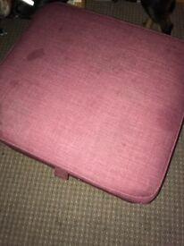 3 piece aubergine suite, 1 is a sofa bed collect Newtongrange