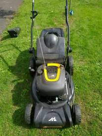 mcculloch lawn mower with grass box and mulcher