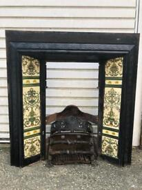 Vintage fireplace with fire basket (retro/ Victorian)