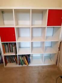 Kallax 4x4 unit with cupboards