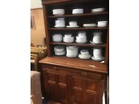 Edwardian oak kitchen unit