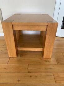 Large oak side table
