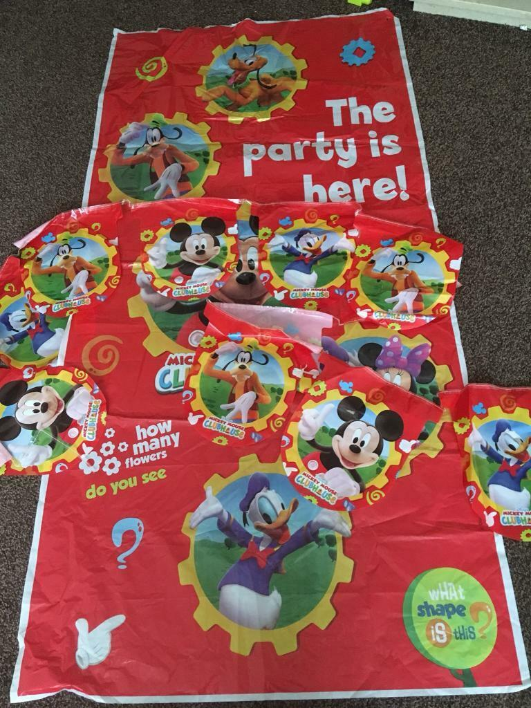 Disney Mickey Mouse Clubhouse Birthday Party Decorations Door Poster And Hanging Banner