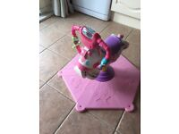 Fisher price Pink Bounce and spin zebra
