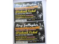 Rory Gallagher Festival 2017 - 2 tickets