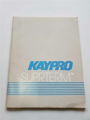 KAYPRO Manual  SUPRTERM for Kaypro 10 computers * GOOD CONDITION * for sale  Shipping to South Africa