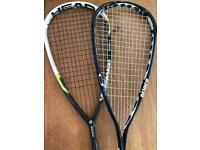 Free Squash rackets x2 (frame cracked)