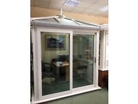 uPVC DOUBLE GLAZED CONSERVATORY WITH SLIDING PATIO DOOR