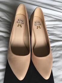 Miss KG pale pink court shoes