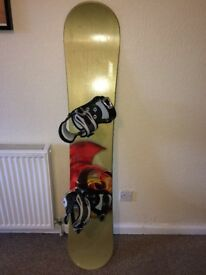 Snowboard 157 and Vans Boots For Sale