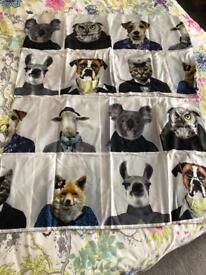 King size animal portraits bed cover and pillow cases