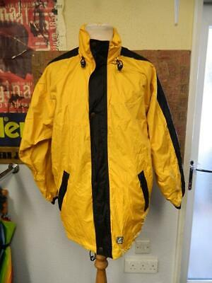 K-Way 2000 Yellow & Black Waterproof Cagoule Rain Jacket - M