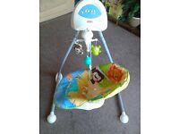 Fisher Price baby cradle and swing 'Animals of the world'
