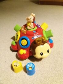 vtech toys (Crazy Legs Learning Bug + Stack and Discover Rings)