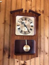 Wooden Mahogany Wall clock with Pendulum