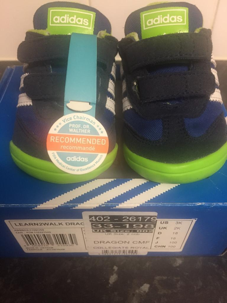 Adidas dragon infant baby trainers size 2