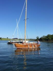 BANGOR S CLASS, CLASSIC LONG KEEL YACHT, DIESEL ENGINE £6750