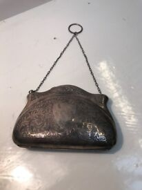 Solid Silver Antique Ladies Evening Bag. Open To Offers.