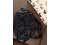 Black spot baby change shoulder bag - kipling