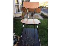 Vintage formica dining / office chair