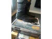 Highlander Outdoor DeltaMilitary Style Black Walking Hiking Work Boots size 7