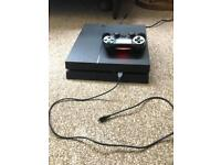 Ps4 500gb with 4 games and 1 controller