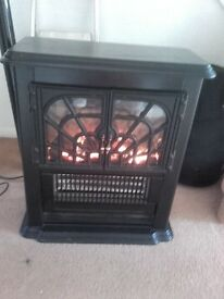 Black electric stove fire