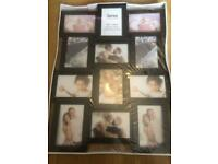 Brand new in packaging black 12 photo wall picture frame