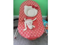 HELLO KITTY BOUNCY CHAIR WITH BAR