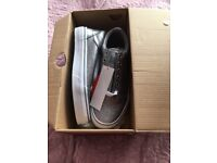 Brand new with tags still in box girls silver Vans trainers