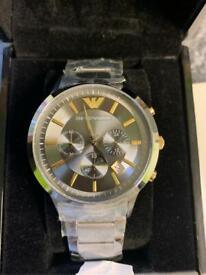 Men's silver Armani watch